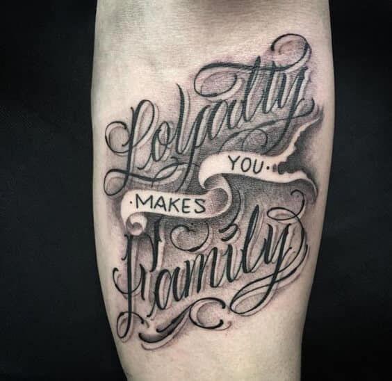 Unterarm tattoo männer schrift