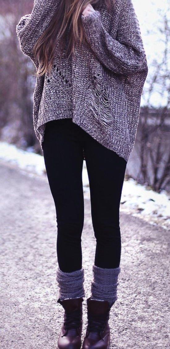 Cosy women's winter outfit