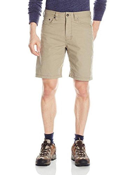 prAna Living Bronson Shorts with 9-Inch Inseam, Dark Khaki, 33 - Brought to you by Avarsha.com