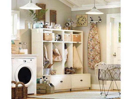 Cuarto de lavado combinado con recibidor laundry room for Cuarto lavanderia