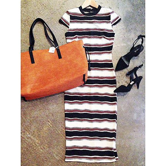 Coco Striped Midi Dress