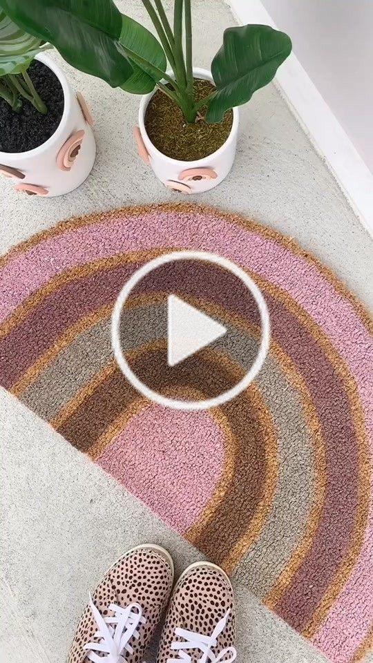 Teresa Caruso Teresalauracaruso On Tiktok How To Make A Rainbow Doormat Learnontiktok Tiktokpartner Homeproj Cool Things To Buy Diy Gifts Diy Crafts