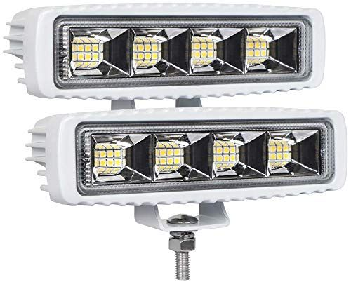 Best Seller Exzeit Waterproof Led Boat Lights 2 Pc 72w Waterproof Tested Deck Dock Marine Lights 4000lms 120 Flood Light 6 3inch 12 24 V Led Light Bar Online In 2020 Led Boat Lights Boat