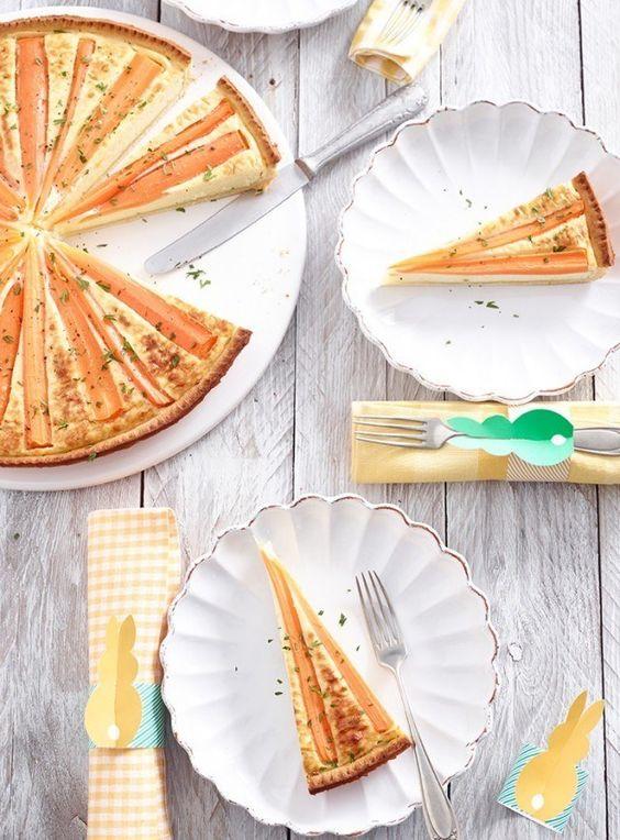 Karotten-Tarte mit Gruyère