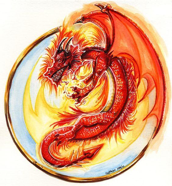 Dragão do Fogo, amo dragões, por isso eles sempre aparecem nos meus livros...
