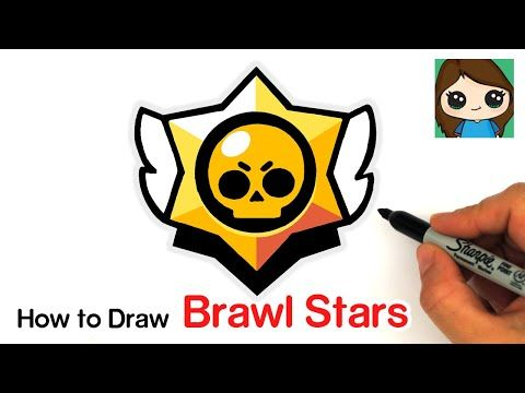 How To Draw The Brawl Stars Logo Youtube In 2020 Drawings Star Logo Cute Drawings