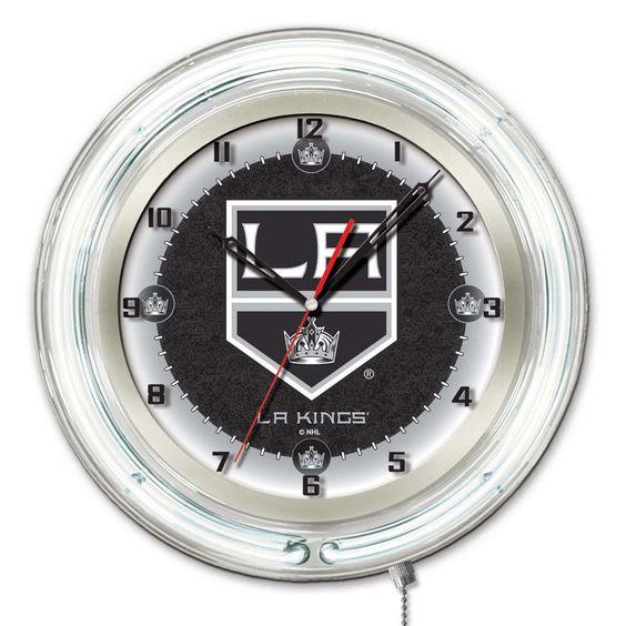 Los Angeles Kings Large Logo Neon Clock