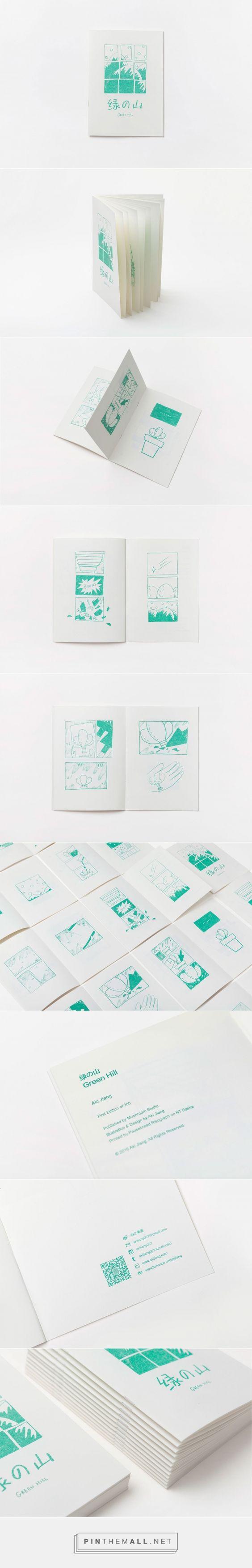 Self-Publishing Zine-Green Hill /自出版Zine《绿の山》 on Behance - created via https://pinthemall.net: