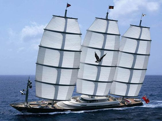 Charter Mega Yacht MALTESE FALCON The most expensive