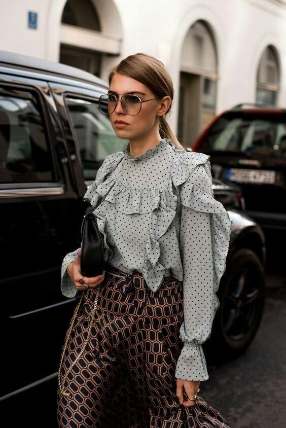 Prints | Blouse | Streetstyle | Inspo | More on Fashionchick