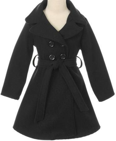 Toddler & Young Girls Adorable Pea Coat Trench Coat Winter Jacket
