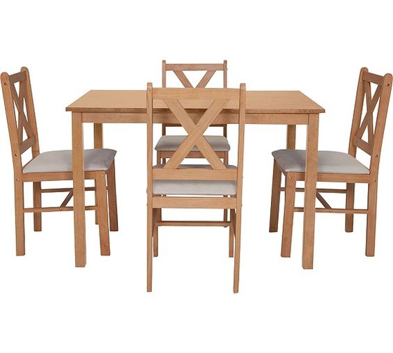 Kitchen Table And Chairs At Argos: Buy HOME Ava Dining Table And 4 Chairs