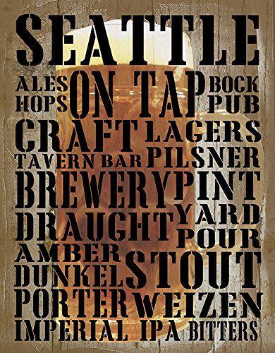 Seattle on Tap by Graffitee Studios 16x12 Art Print Posters Wall Decor Seattle Washington Draught Beer Craft Beer Micro Brew Amber IPA Weizen Stout Boch Graffi*tee Studios http://www.amazon.com/dp/B00T85L6Y2/ref=cm_sw_r_pi_dp_VKBivb1SPMF89