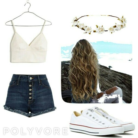 Summer festival outfit  #summer #outfit #festival #flowercrownoutfit