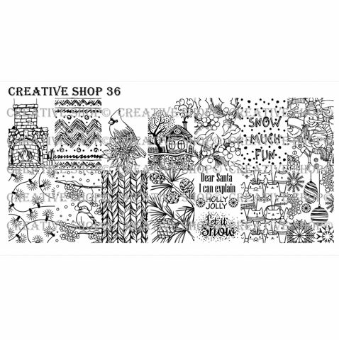 Creative Shop- Stamping Plate- 36