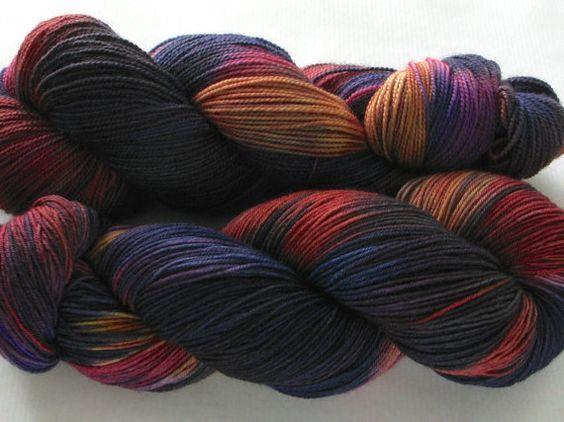 Hand Dyed Sock Yarn Felix Helix OldSchool Tie by gnarledpaw