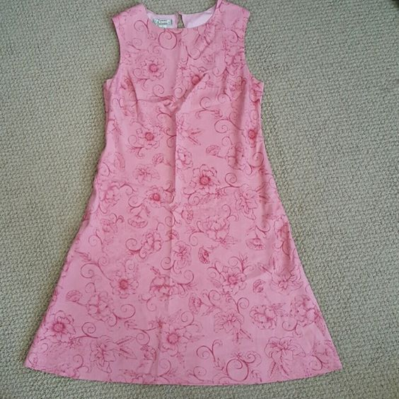 "Tommy Bahama dress Sleeveless floral pink dress lined, 39"" from shoulders, Tommy Bahama Dresses"