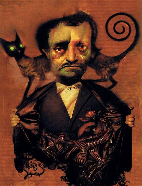 Edgar Allan Poe by artist [Dave McKean]. Scanned from Spectrum 8 (Underwood Books/2001).