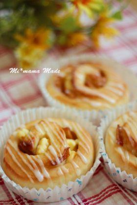 「キャラメルりんごとクリチのぐるぐるパン」setsuko♪ | お菓子・パンのレシピや作り方【corecle*コレクル】