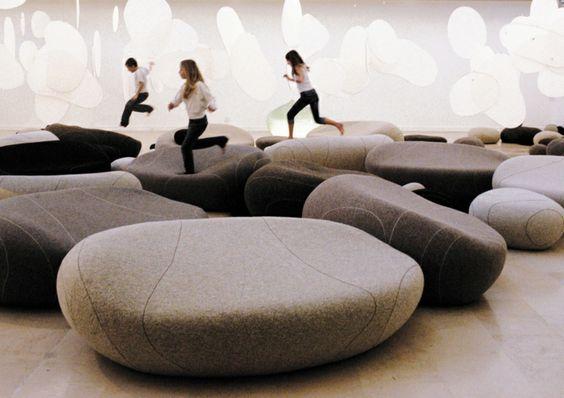 living stone sofa pouf französische möbel modernes design ...