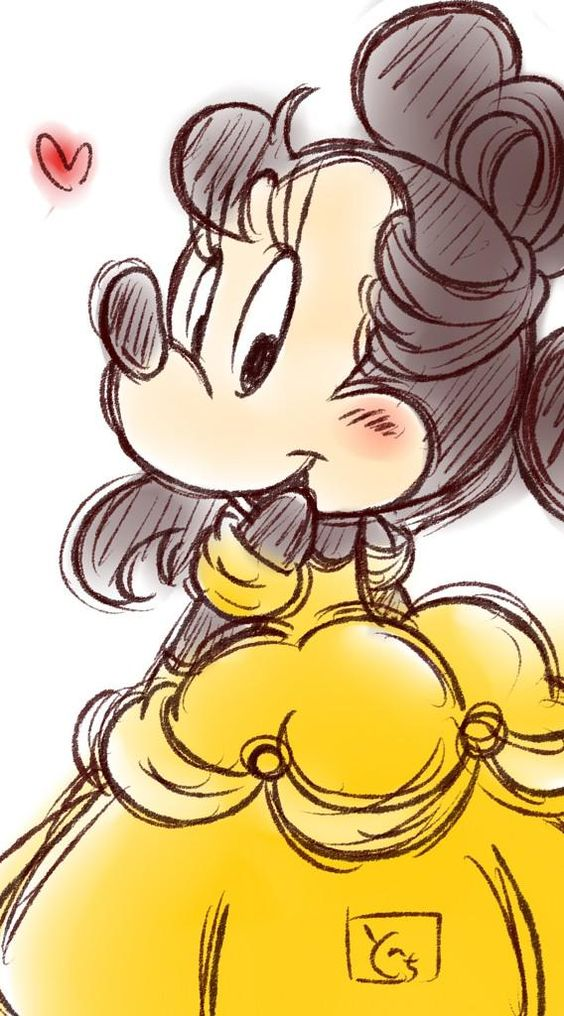 Minnie as Belle: