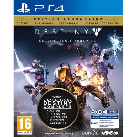 19.99 € ❤ #BonPlan #PS4 - #Destiny : le Roi des Corrompus Edition Légendaire ➡ https://ad.zanox.com/ppc/?28290640C84663587&ulp=[[http://www.cdiscount.com/jeux-pc-video-console/ps4/destiny-le-roi-des-corrompus-edition-legendaire/f-1030401-5030917161513.html?refer=zanoxpb&cid=affil&cm_mmc=zanoxpb-_-userid]]