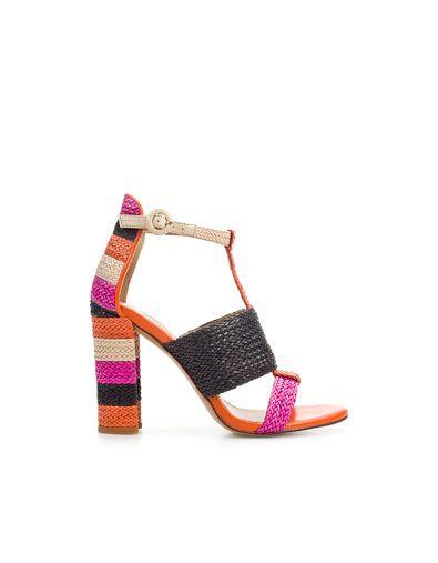 WOVEN THONG SANDAL - Shoes - Woman - ZARA