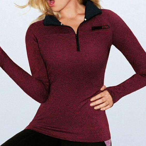Ultimate Half-Zip Pullover NWOT, never worn PINK Victoria's Secret Tops Sweatshirts & Hoodies