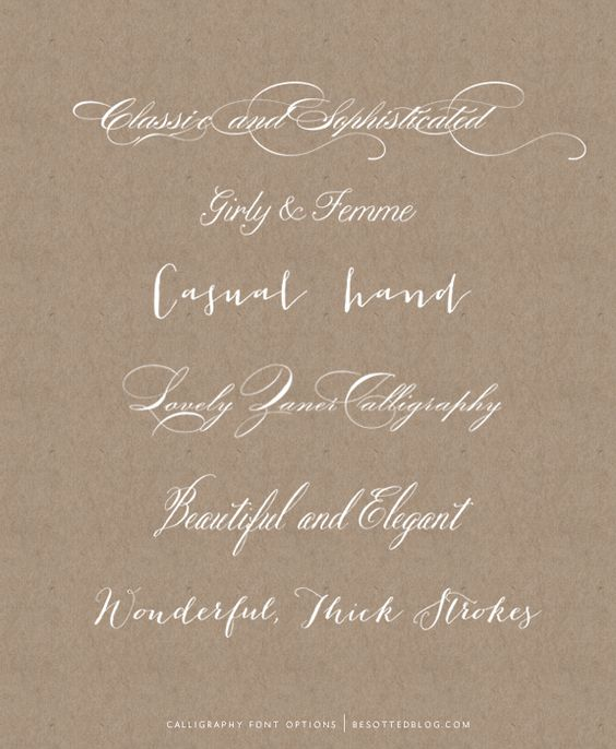 6 realistic calligraphy fonts via Besotted Blog.