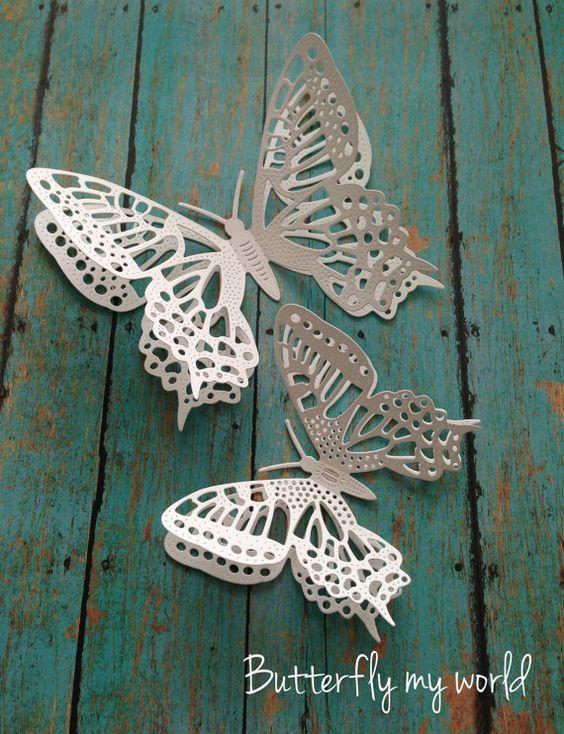 Decorazione della parete / 3D farfalla di Butterflymyworld su Etsy