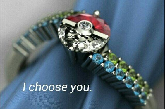 I Choose You.... Pokemon Engagement Ring