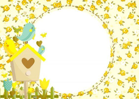 ideias convite jardim encantado:Convite Jardim Encantado Amarelo Provençal