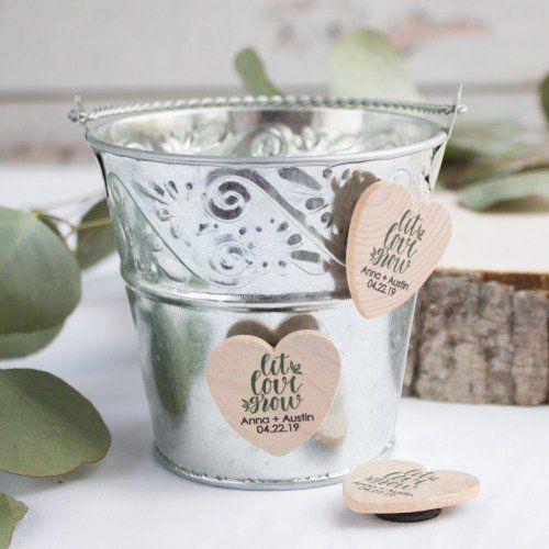Most Popular Wedding Favors Best Wedding Favors Beau Coup Wedding Magnet Wooden Wedding Heart Shape Favors