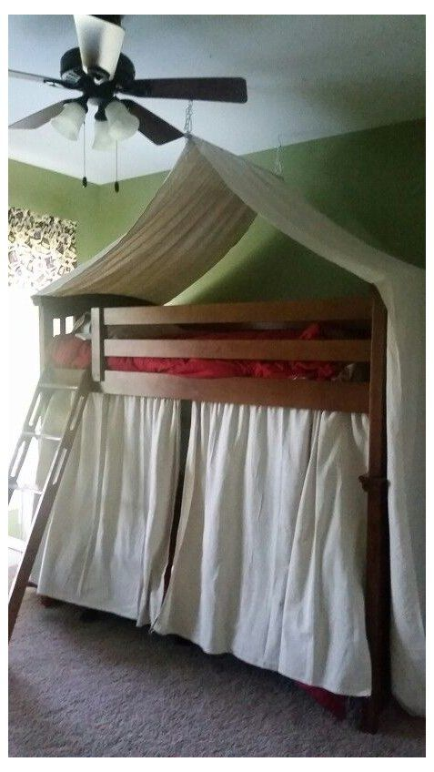 Bunk Bed Tent Boys Bunk Bed Tent Made From Drop Cloths For Boys Camping Themed Room Bunk Bed Tent Bed Tent Camping Room