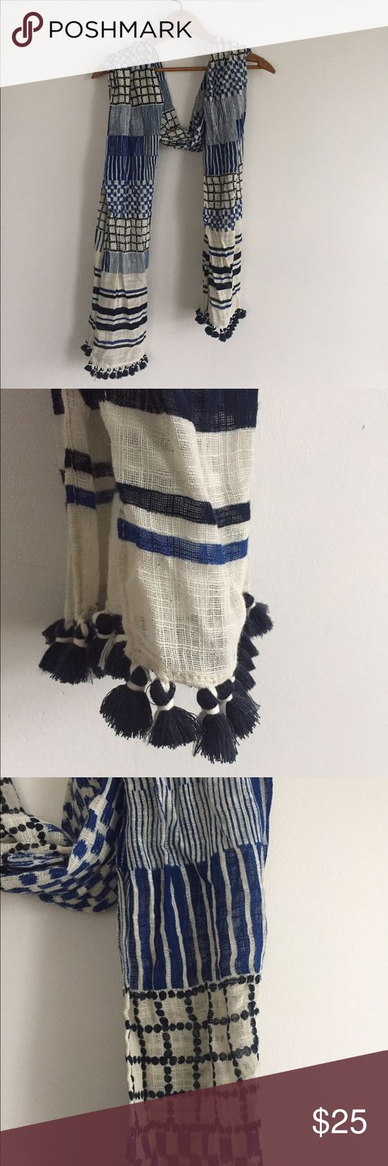 Madewell Scarf | D, Tassels and Cream
