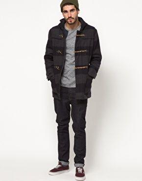 ASOS Stripe Duffle Coat