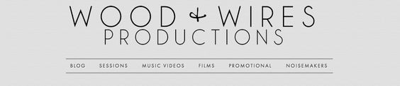 Wood + Wires Productions website design
