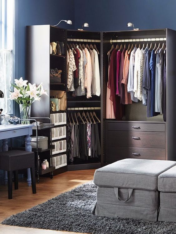 Organizando o closet