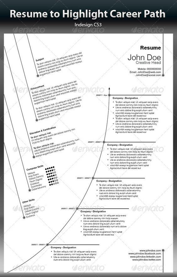 Creative Resume To Highlight Career Path   Pinterest   Design