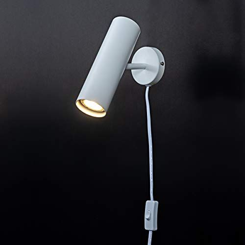 Modern Plug In Wall Sconce Wall Lamp For Bedroom Rotatable White Painting Wall Sconce With Switch Cord For Bedroom L