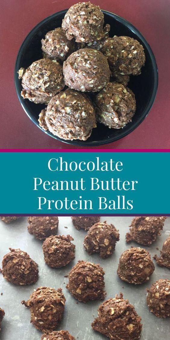 No Bake Chocolate Peanut Butter Protein Balls - Tshanina Peterson