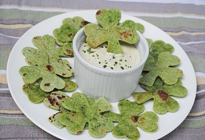 """""""Shamrock Chips"""" perfection. So cute and such a hit on st. paddy's day."""