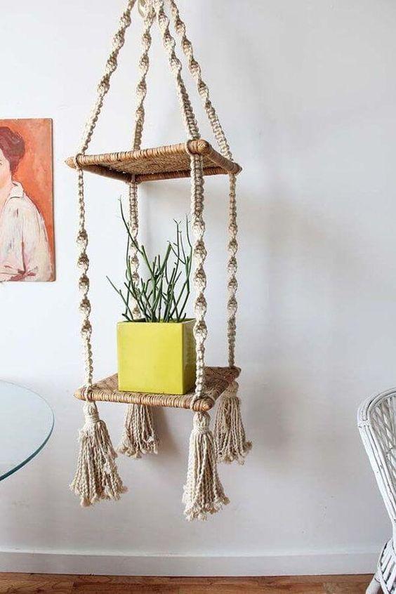 40 ideas para decorar con macram tapices l mparas - Colgantes de macrame ...
