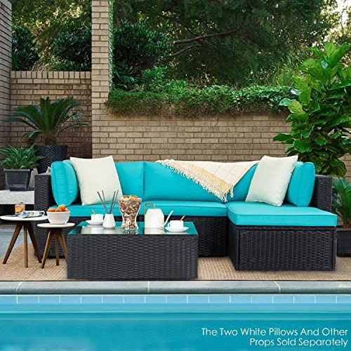 New Vitesse 5 Pieces Patio Furniture Sectional Sets Outdoor All
