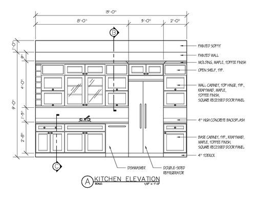 Kitchen Cabinet Design Drawing orthographic drawing kitchen | cabinet making math | pinterest