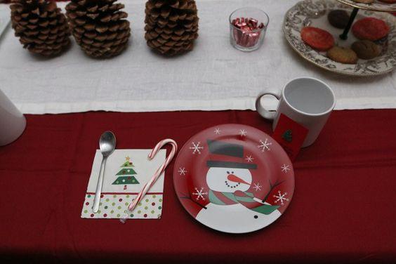 A Simple Christmas Tea Party Table Setting via Chrystina Noel