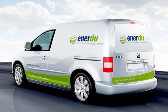 Webdesign, grafische vormgeving en huisstijl is de kracht van reclame- ontwerp- en communicatiebureau Ontwerp van Wouter. » Enerdu Duurzame energiesystemen – Autobelettering