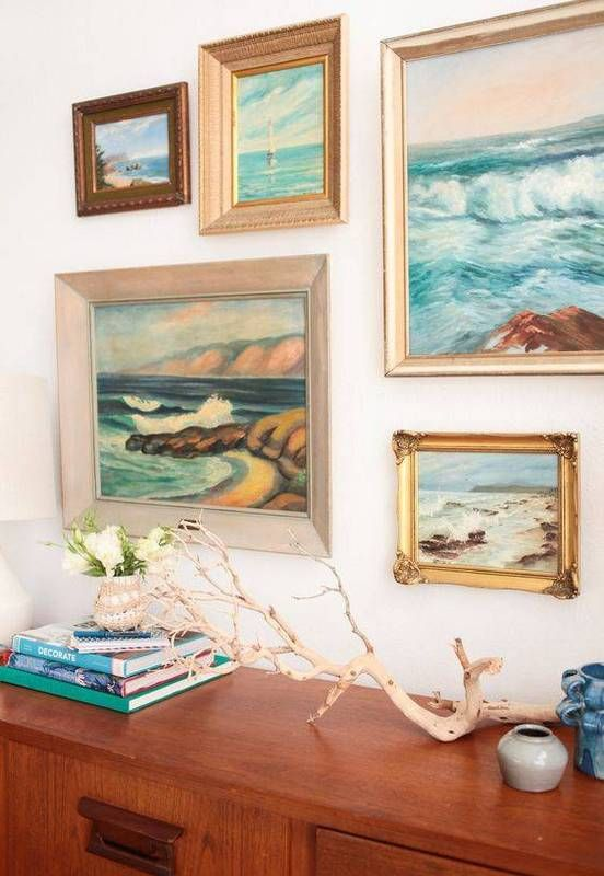 pretty colors here: warm neutrals mixed with blues