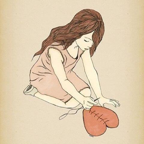 Resultado de imagen de mujer corazon roto