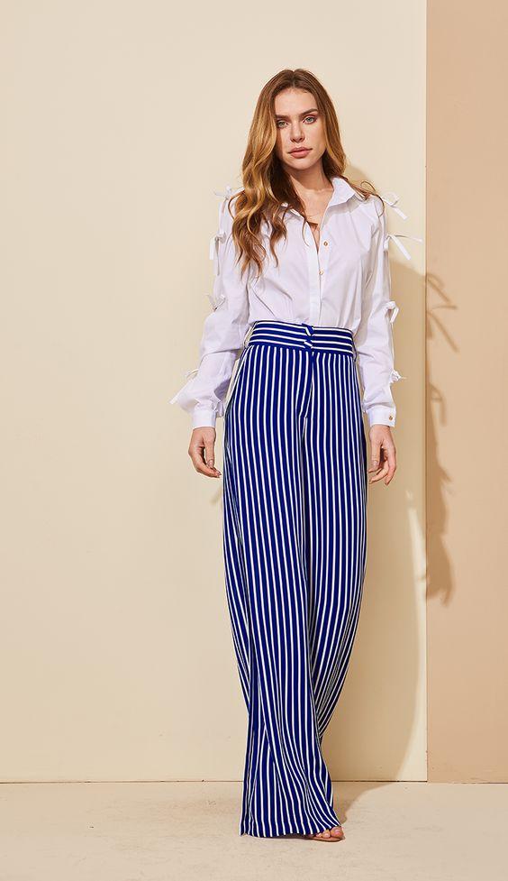 CALÇA PANTALONA LISTRAS - CAL24301-DH | Skazi, Moda feminina, roupa casual, vestidos, saias, mulher moderna